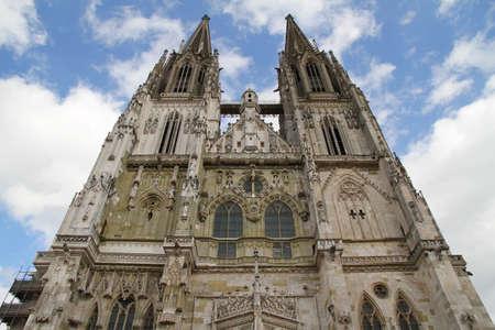 regensburg: The Cathedral of Regensburg, Germany.