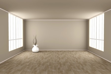 unfurnished: 3D rendered Illustration.