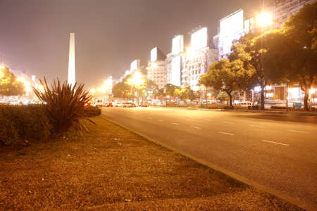 the obelisk: The famous Obelisco of Buenos Aires, Argentina. Stock Photo