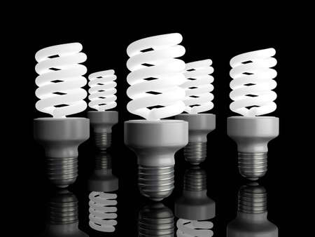 fluorescent tubes: 3D rendered Illustration.