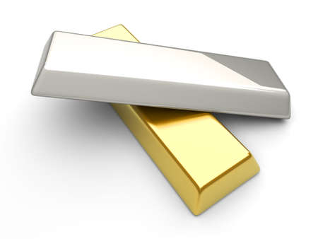 silver bar: 3D rendered Illustration.