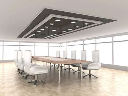 board room: 3D rendered illustration. Stock Photo