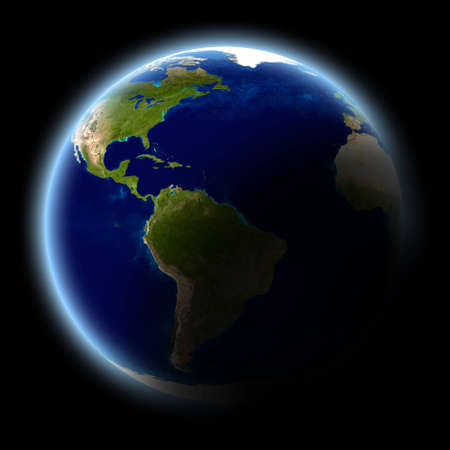 Planet earth, isolated on black. Stock Photo - 8438762