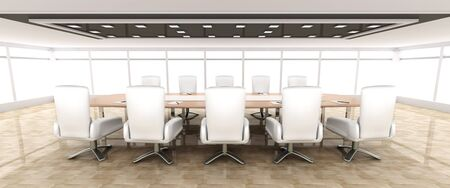 boardroom meeting: 3D rendered illustration. Stock Photo
