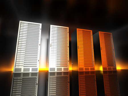 fileserver: 3D rendered Illustration.