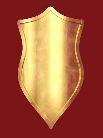 3d shield: 3D rendered Illustration. A fantasy metal shield.