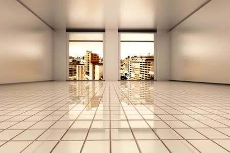 visualisation: Interior visualisation of a empty Apartment in Sao Paulo. 3D rendered illustration.