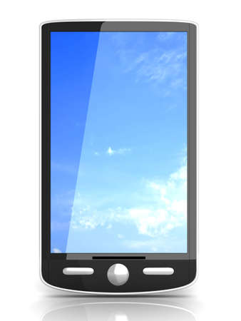 A generic Smartphone. 3D rendered illustration isolated on white. Stock Illustration - 8937498