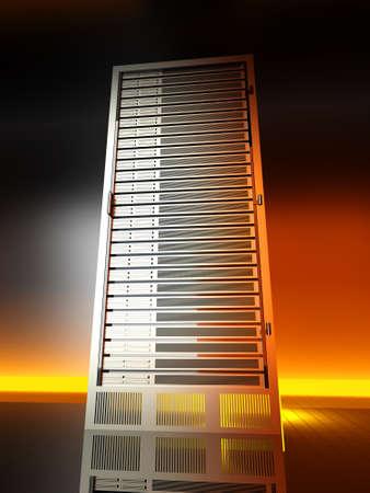 mainframe: 3D rendered Illustration.