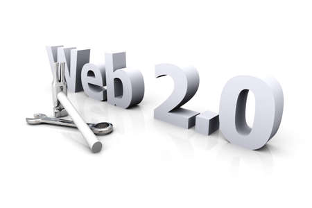 wehosting: 3D Illustration. Website is under construction. Isolated on white.