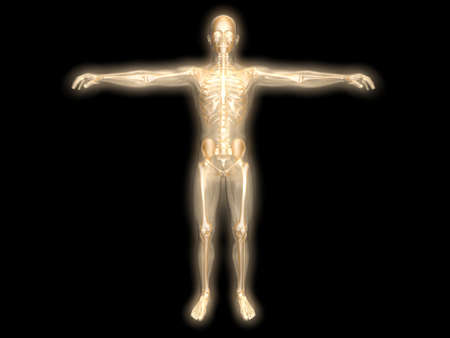 3D rendered visualization of the energy / astral body. Stock Photo - 9024175