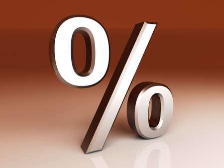 percent sign: 3D rendered Illustration.