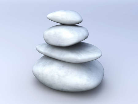 Balancing stones. 3D rendered Illustration.  illustration