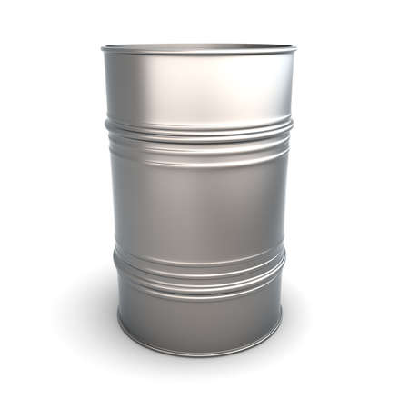 A oil barrel. 3D rendered Illustration. Isolated on white. illustration