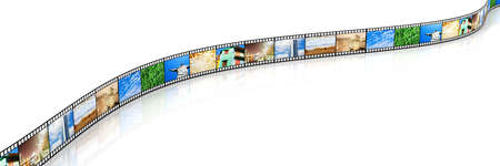 A Photo film. 3D rendered Illustration. Isolated on white. illustration