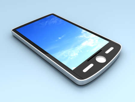 A generic Smartphone. 3D rendered illustration. Stock Illustration - 9193808