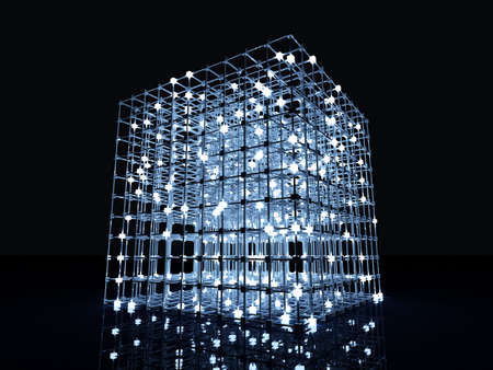 power grid: 3D rendered Illustration. A glowing grid.  Stock Photo