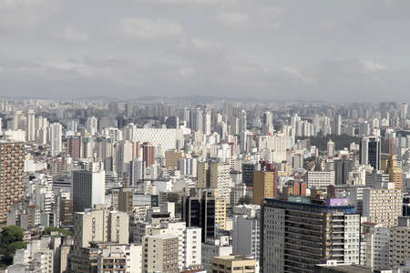 urbanization: Skyline of Sao Paulo, Brazil.