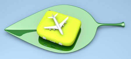 Air travelling. 3D rendered Illustration. Isolated on white. illustration