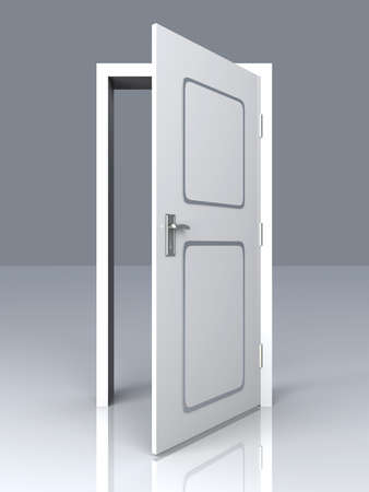 portal: The Door is open for you... 3D rendered Illustration.