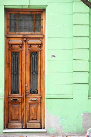 viejo: A door in Palermo viejo, Buenos Aires. Stock Photo