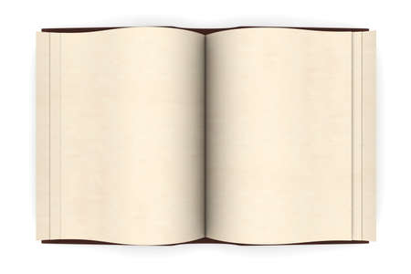 An antique Book. 3D rendered Illustration. Isolated on white. Stock Illustration - 9463360