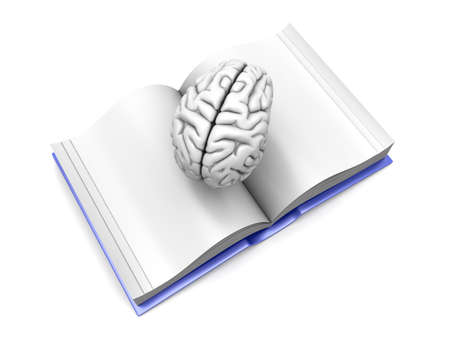 psychologic: Psychologic  Psychiatric  Neurologic literature. 3d rendered Illustration. Isolated on white. Stock Photo