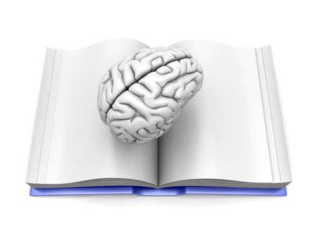 psychiatrique: Psychologiques  psychiatriques et neurologiques litt�rature. Illustration de rendu 3D. Isol� sur fond blanc. Banque d'images