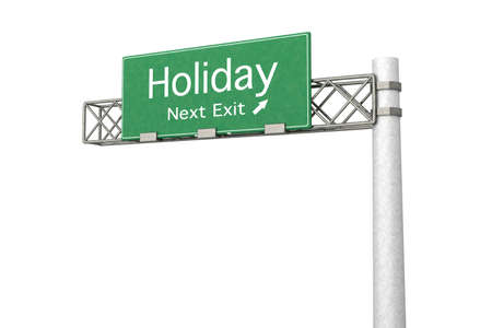 3D rendered Illustration. Highway Sign next exit to the Airport. Stock Illustration - 9584766