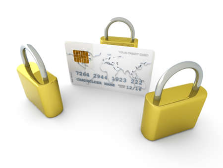 prepaid card: 3D rendered Illustration. Isolated on white.