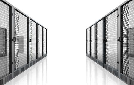 mainframe: 3D rendered Illustration. Isolated on white. Stock Photo
