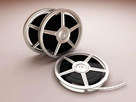A couple of Film reels. 3D rendered Illustration. illustration