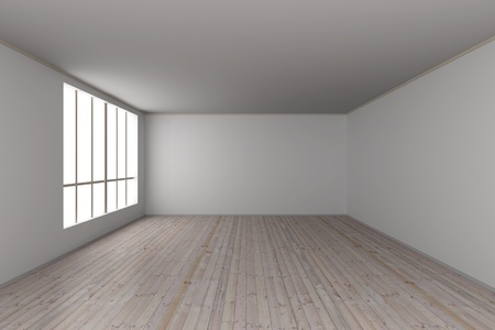 empty room: 3D rendered Illustration.