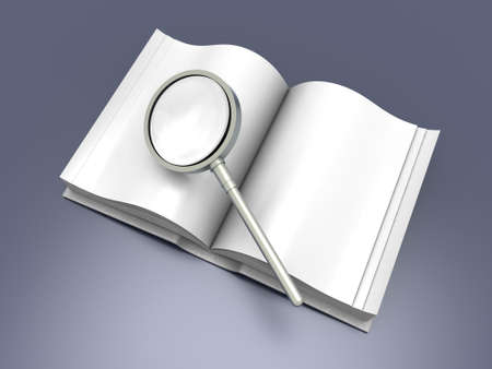 Searching in a Book. 3D rendered Illustration. illustration