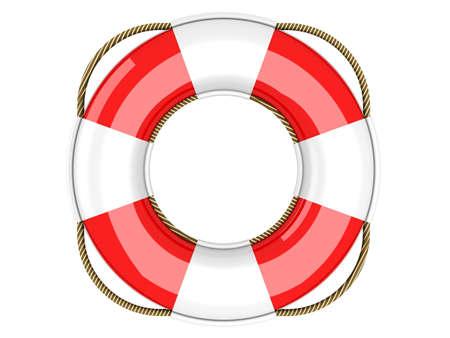 life belt: A life belt. 3d rendered Illustration. Isolated on white.