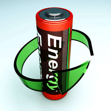 3d Rendered Illustration Symbol For A Rechargable Aa Battery Stock