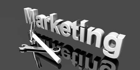 Tools for Marketing. 3D rendered Illustration.  illustration