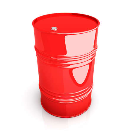 A industrial barrell. 3D rendered Illustration. Isolated on white. Stock Illustration - 9956016