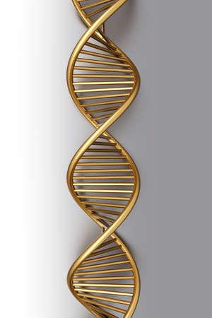 A symbolic DNA model. 3D rendered illustration. Stock Illustration - 9955963