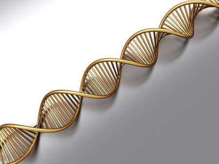 A symbolic DNA model. 3D rendered illustration.  Stock Illustration - 9956002