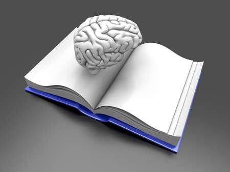 Psychologic  Psychiatric  Neurologic literature. 3d rendered Illustration.  Stock Photo