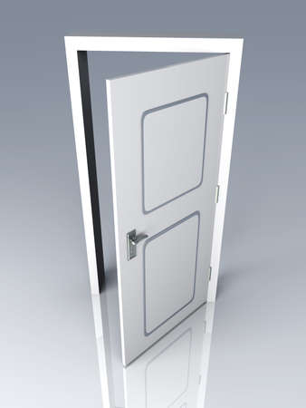 The Door is open for you... 3D rendered Illustration.  illustration