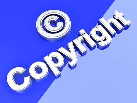Copyright symbol. 3D rendered Illustration.  illustration