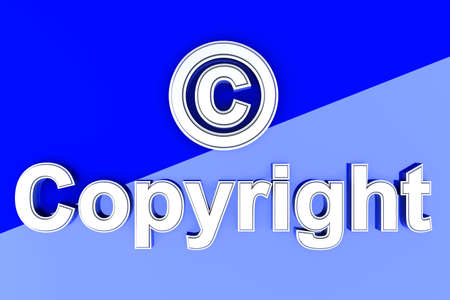 Copyright symbol. 3D rendered Illustration.  Stock Illustration - 10071551