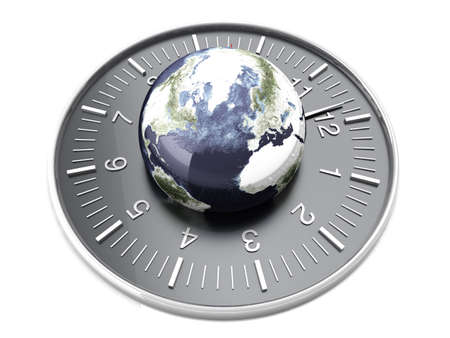 World time. 3D rendered Illustration. Isolated on white.   illustration