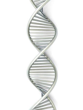 clonacion: Un modelo de ADN simb�lico. 3D rindi� la ilustraci�n. Aislado en blanco.