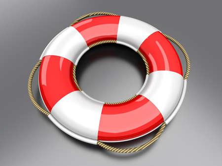 A life belt. 3d rendered Illustration. illustration