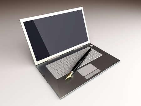 Writer numérique. 3D, rendu, Illustration. Déséquilibré configuration foudre.