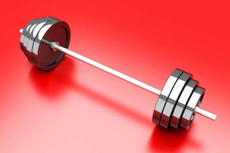 Weights for Sports and Body building. 3D rendered Illustration. illustration