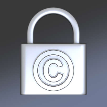 Copyright symbol. 3D rendered Illustration.  illustration